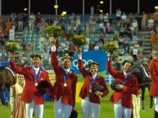 U.S. Show Jumping Team Celebrate Silver