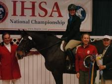 Stanford University's Katherine Fernhoff Wins The Individual Intermediate Equitation On The Flat Championship