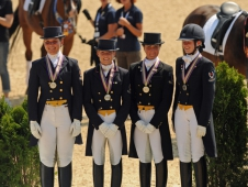 Young Rider Team Silver Medalists