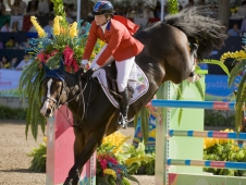"""Beezie Madden Lands In First After Day 1 At The <a href=""""https://www.chronofhorse.com/article/madden-leads-us-team-top-speed-day"""">Pan American Games.</a>"""
