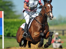 "Mary King and Kings Temptress After Rolex Cross-Country <a href=""http://chronofhorse.com/article/king-conquers-cross-country-rolex-kentucky""> Jumped Into The Lead</a>"