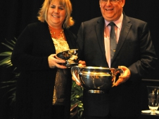 """Brenda Outwater Was Honored At The <a href=""""http://www.chronofhorse.com/article/ushja-gets-new-increment-system"""">USHJA Annual Meeting.</a>"""