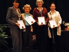 Julie Winkel, Betty Oare, Mary Babick and Tracey Weinberg