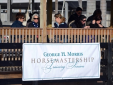 "<a href=""http://www.chronofhorse.com/article/2012-morris-horsemastership-training-session-day-1"">Day 1 Of The 2012 George H. Morris Horse Mastership Training Session</a>"