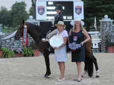"Roxbury crowned top medium pony with Yasmin Rivzi at <a href=""http://www.chronofhorse.com/article/roxbury-reels-win-kentucky"">USEF Pony Finals.</a>"