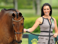 "Laine Ashker And Anthony Patch Looked Smashing At <a href=""http://www.chronofhorse.com/article/first-rolex-kentucky-jog-whittles-field-one"">The First Horse Inspection </a>"