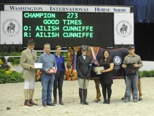"Good Times Won The Grand Junior Hunter Title At <a href=""http://www.chronofhorse.com/article/plenty-good-times-cunniffe-washington"">Washington International. </a>"