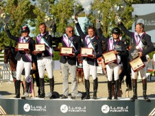 The French with the Furusiyya Nations Cup Final
