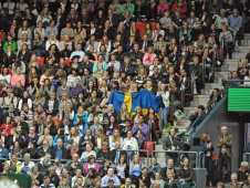 Swedish Flag In A Packed House