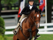 Sassafrass Creek earned the medium pony hunter championship at USEF Pony Finals.