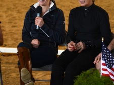 Charlotte Dujardin and Judy Harvey