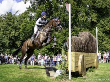 GBR-Lynn Symansky rides Donner during the Cross Country. Interim-8th. 2017 GBR-Land Rover Burghley Horse Trials. Saturday 2 September. Copyright: Libby Law Photography