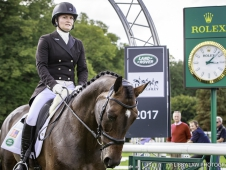 USA-Hannah Sue Burnett rides Under Suspection during the First Day of Dressage.  2017 GBR-Land Rover Burghley Horse Trials. Thursday 31 August. Copyright: Libby Law Photography
