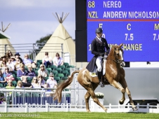 NZL-Andrew Nicholson rides Nereo during the Second Day of Dressage.  2017 GBR-Land Rover Burghley Horse Trials. Friday 1 September. Copyright: Libby Law Photography
