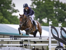 GBR-Piggy French rides Vanir Kamira during the Showjumping. Final-2nd. 2017 GBR-Land Rover Burghley Horse Trials. Sunday 3 September. Copyright: Libby Law Photography