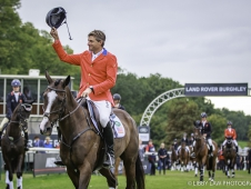 USA-Boyd Martin rides Steady Eddie during the Prizegiving. FINAL-10th. 2017 GBR-Land Rover Burghley Horse Trials. Sunday 3 September. Copyright: Libby Law Photography