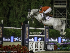 USA-Laura Kraut rides Confu during the Longines FEI Nations Cup Jumping Final. 2017 ESP-Longines FEI Nations Cup Jumping Final - CSIO Barcelona. Real Club de Polo de Barcelona. Saturday 30 September. Copyright Photo: Libby Law Photography