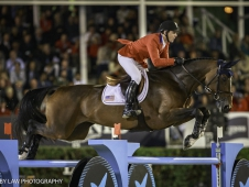 USA-Mclain Ward rides HH Azur during the Longines FEI Nations Cup Jumping Final. 2017 ESP-Longines FEI Nations Cup Jumping Final - CSIO Barcelona. Real Club de Polo de Barcelona. Saturday 30 September. Copyright Photo: Libby Law Photography