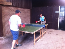 Beezie Does Ping-Pong