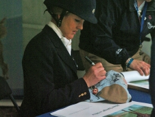 Allison Springer Signs Autographs At Rolex Kentucky