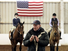 """<a href=""""http://www.chronofhorse.com/article/vermonters-king-george%E2%80%99s-court""""> A Clinic With George Morris</a>"""