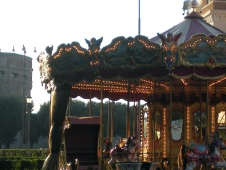 Carousel Horses Right Beside Castel Sant'Angelo