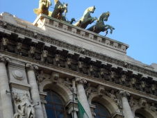 Bronze Horses On The Roof Of La Tribunale