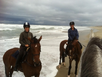 Riding On The Beach With Lauren Billys