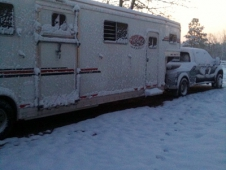 Snow Covered Trailer