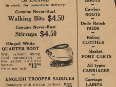 Tack Store Advertisement