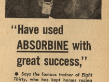 Absorbine Advertisement