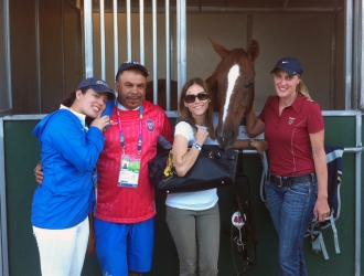 The Puerto Rican Dressage Team At The Pan Ams