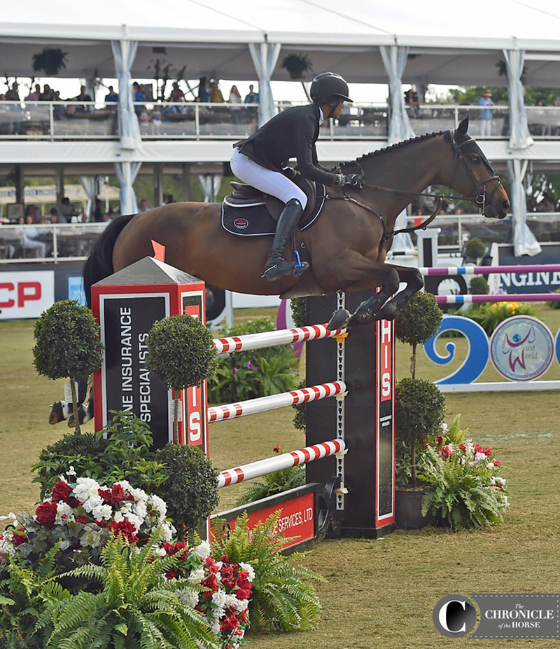 Dubai and I on course at the Palm Beach Masters. Photo by Ann Glavan