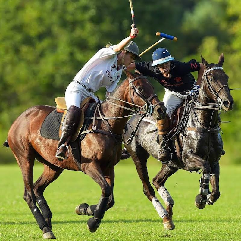 Beth Supik (left) playing polo. Beth played through high school and college and is a certified arena umpire. Photo by Paul Zappala