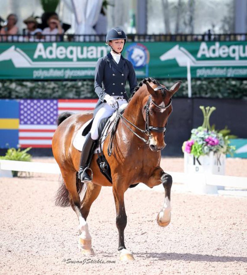 Laura Graves and Verdades showed consistency as they scored over 80 percent in the Grand Prix again at the AGDF. Photo by Sue Stickle