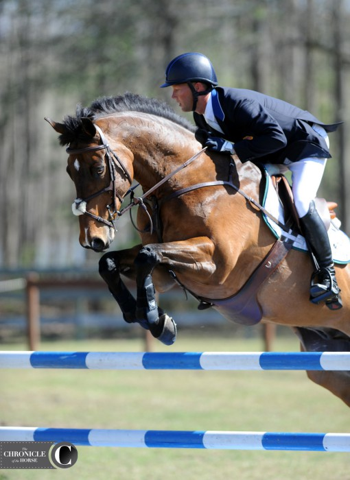 Loughan Glen and Clark Montgomery had one rail down in show jumping. Photo by Lindsay Berreth.