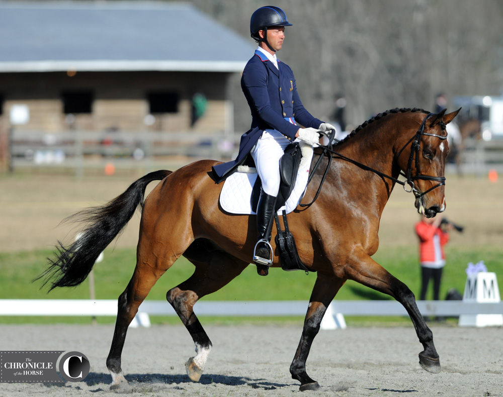 Loughan Glen and Clark Montgomery earned their lowest three-star dressage score ever. Photo by Lindsay Berreth.