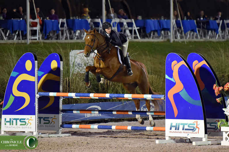 Adelaide Toensing stayed consistent over two rounds to top the HITS Equitation Championship. Photo by Mollie Bailey.