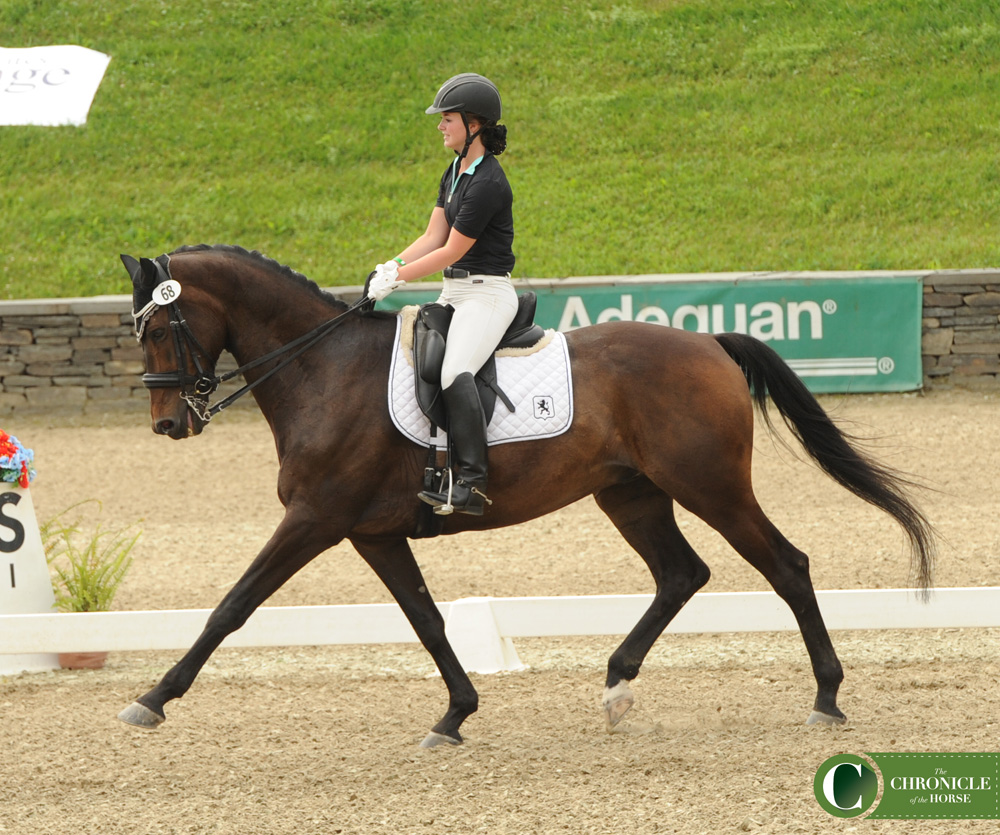 Tillie Jones gave an emotional freestyle on Apachi to win the gold medal at NAJYRC. Photo by Madeline Skrak.
