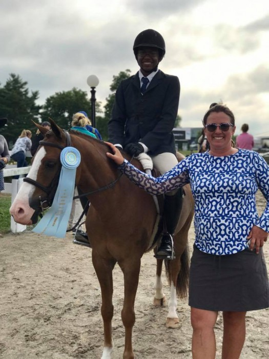 Miguel Wilson partnered with trainer Emily Elek to take 10th place with Woodlands Churchill in the medium green pony under saddle. Photo courtesy of Miguel Wilson.