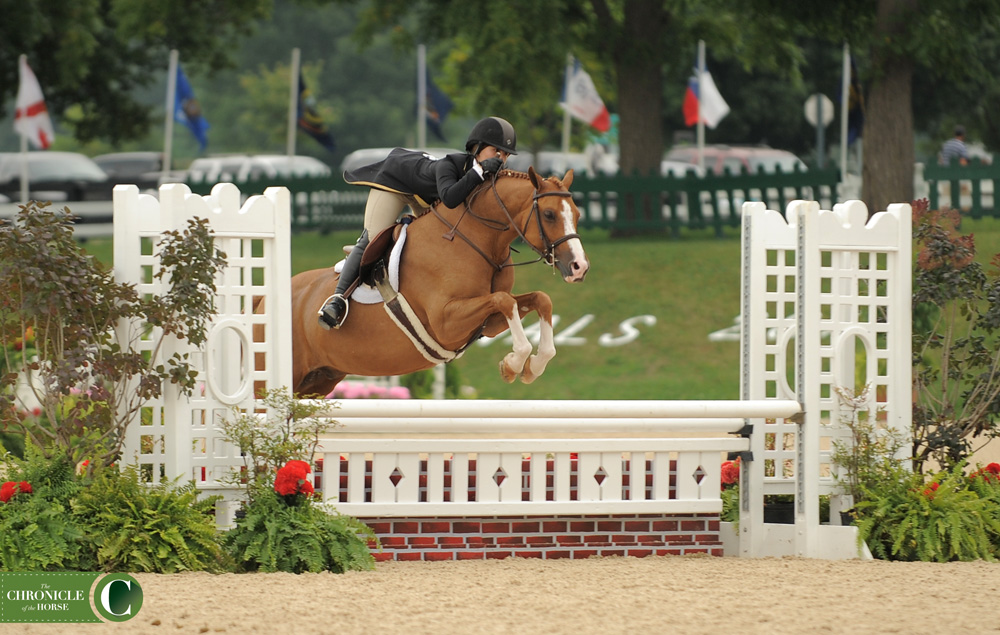 Libbie Gordon came back with another USEF Pony Finals victory, this time with Small Wonder. Photo by Laura Lemon.