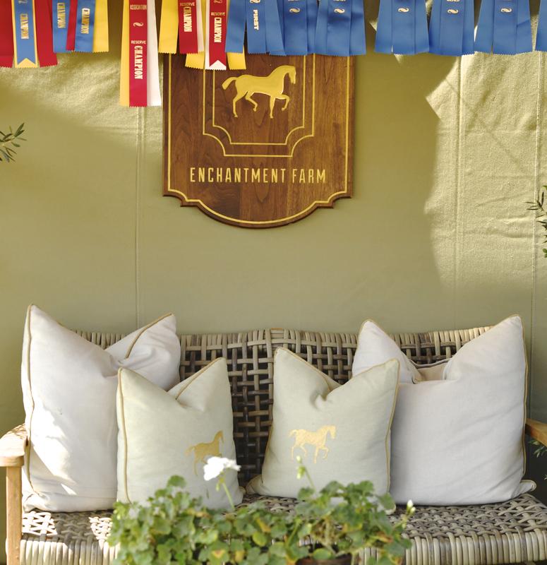 1Enchantment Farm's logo'd pillow