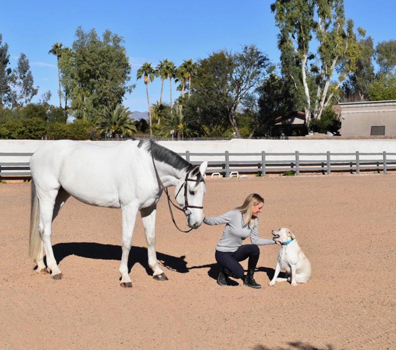 AHughes_Allison enjoying horses at home, Photo Cred Allison Hughes
