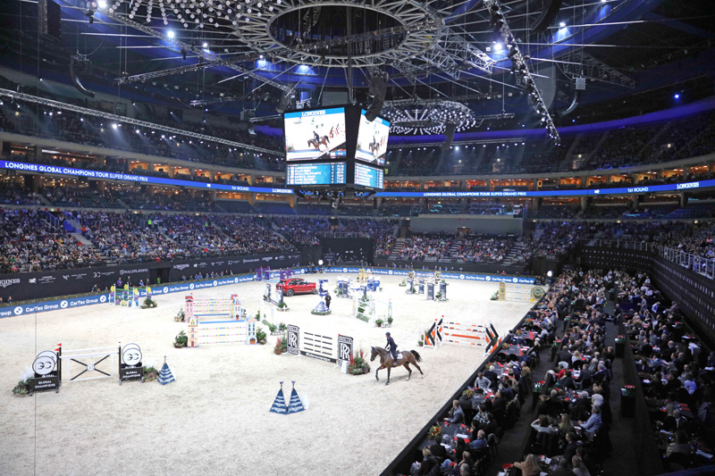 A view of the arena