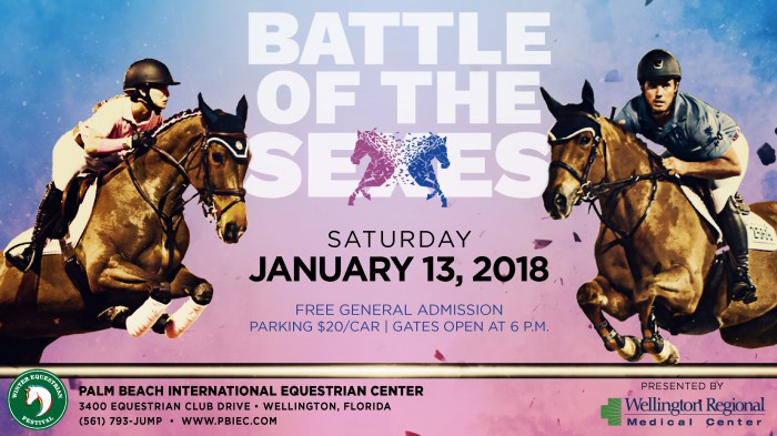 $75,000 Battle of the Sexes Presented by Wellington Regional Medical Center on Saturday, January 13th at 7pm EST!