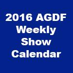 2016 Weekly Calendar