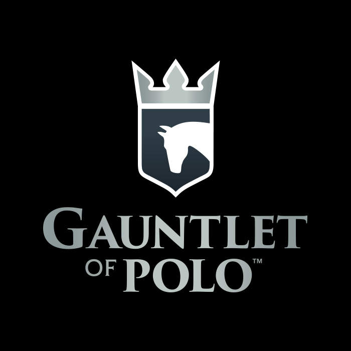Gauntlet outline on black