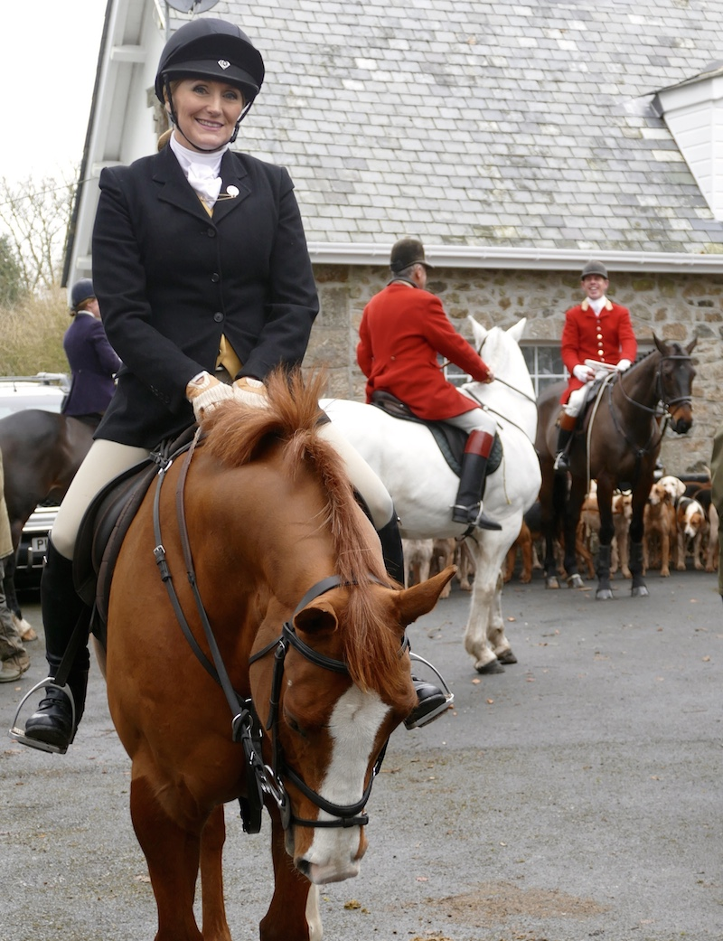 On her trip to England Theresa Sanders also hunted with the South Devon Hunt. Photo courtesy of Theresa Sanders