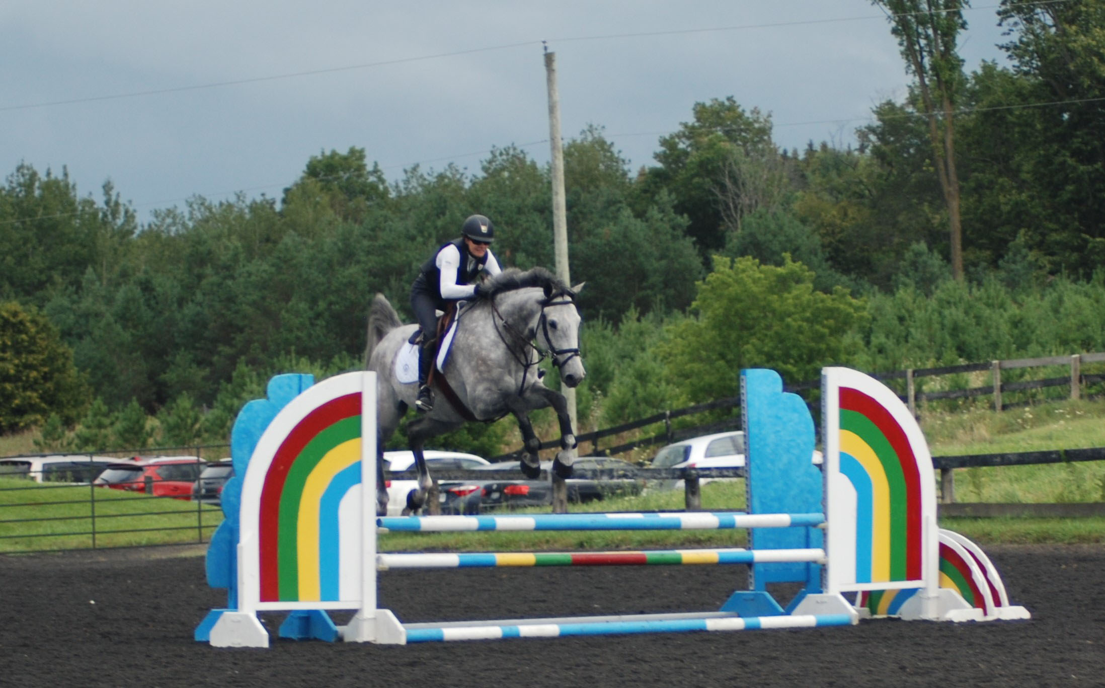 Sarah Bellamy Cleared An Oxer On Day 2 Of The McLain Ward Clinic In Ontario Photo By Suzanna OConnor