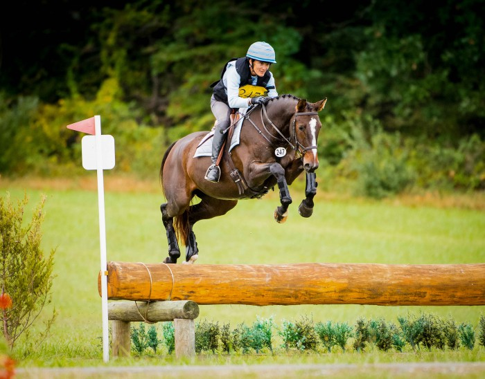 Jane Sleeper rode homebred UNanimous at this year's USEA Young Event Horse East Coast Championships at the Dutta Corp. Fair Hill International (Md.), finishing ninth in the 4-year-old division. Photo by Shannon Brinkman Photography.
